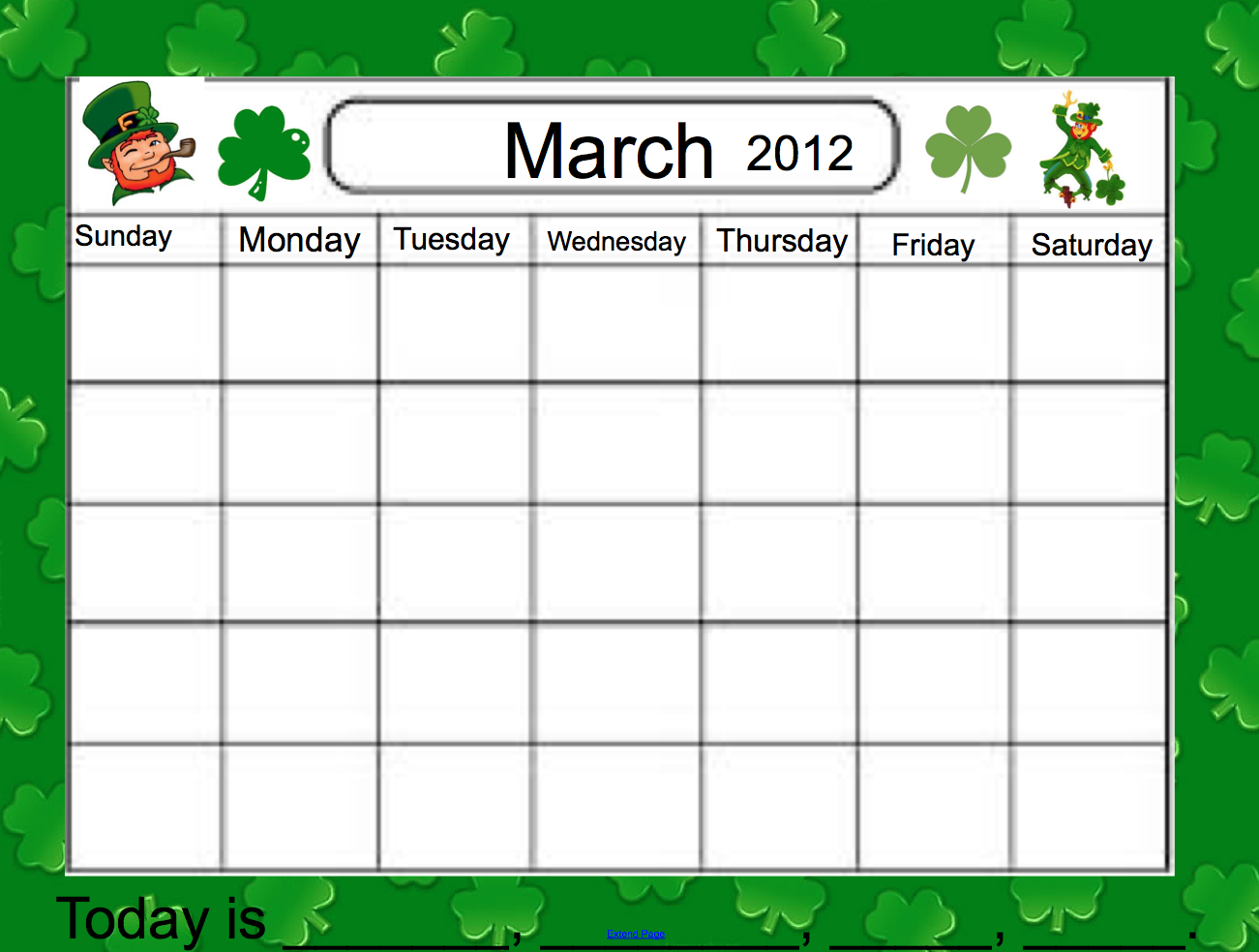 "Calendar Ideas For March : Search results for ""calendar with day numbers"