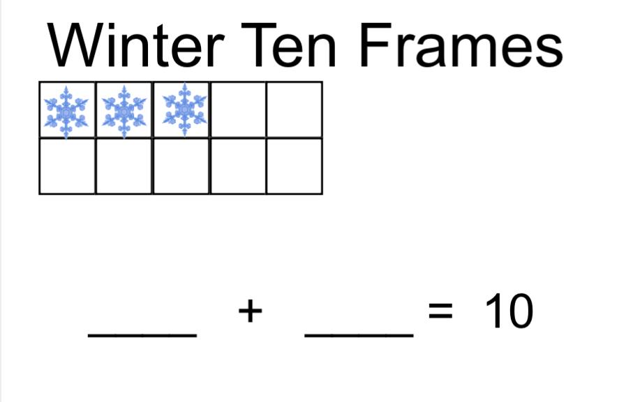 Winter Ten Frames Smart Notebook on The Mitten Sequencing Activity